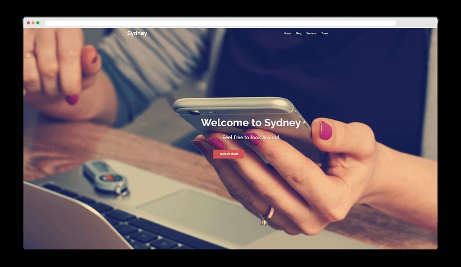 Bản demo chủ đề Sydney, hoạt động tuyệt vời với Elementor