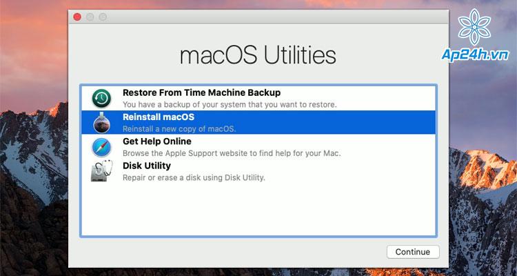 MacBook khong vao duoc he dieu hanh
