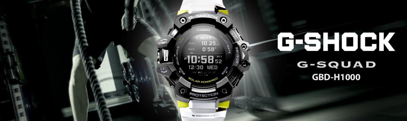 Pierwszy smartwatche od G-SHOCK G-SQUAD GBD-H1000