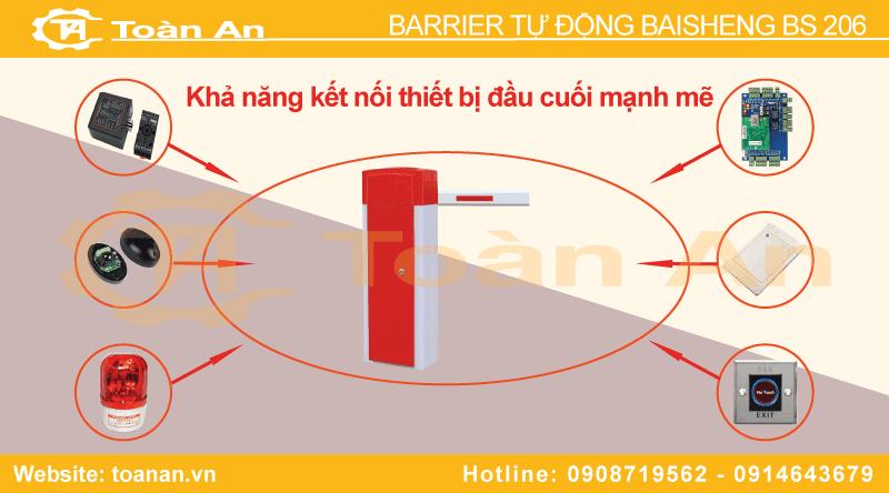 Các thiết bị đầu cuối barrier tự động bs 206 có thể kết hợp được.