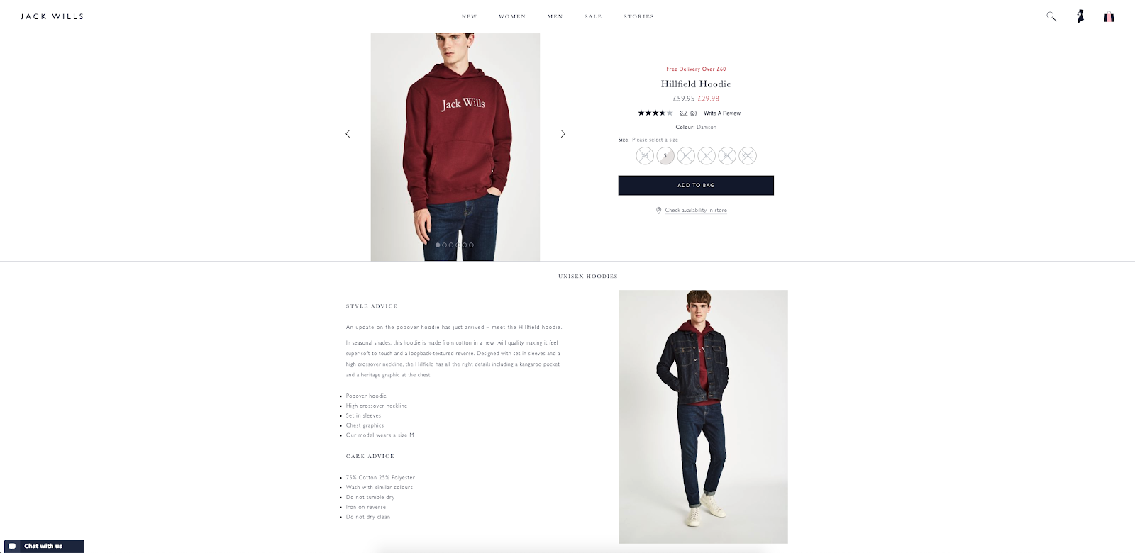 best product detail page examples jack wills