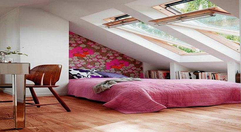 Cải tạo tầng áp mái thành phòng ngủ siêu xinh
