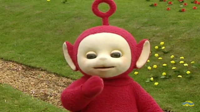 "The disguise of "" adult in The Télétubbies 