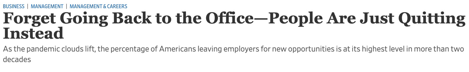 Forget going back to the office