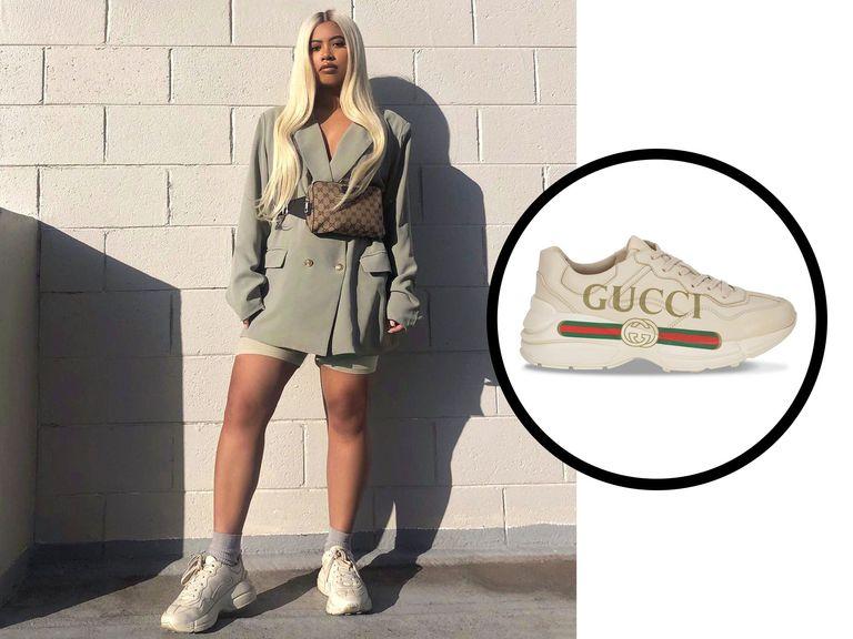 Giày Gucci nữ với quần Short là cặp đôi hoàn hảo