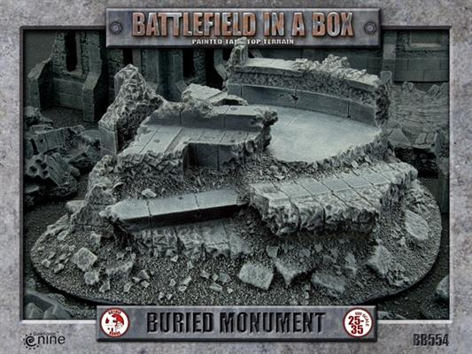"""The box art for the """"Buried Monument"""" piece of terrain from Gale Force 9."""