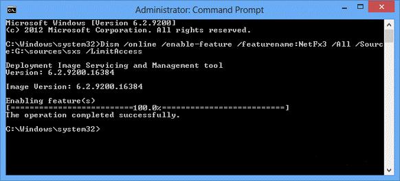 How to install .NET Framework 3.5 in Windows ?