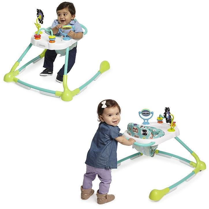 Kolcraft Tiny Steps Too 2-in-1 Infant & Baby Activity Walker