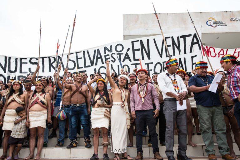 Indígenas Waorani de Ecuador ganan fallo de segunda instancia y prohiben petroleras. Foto: Jerónimo Zuñiga / Amazon Frontlines.