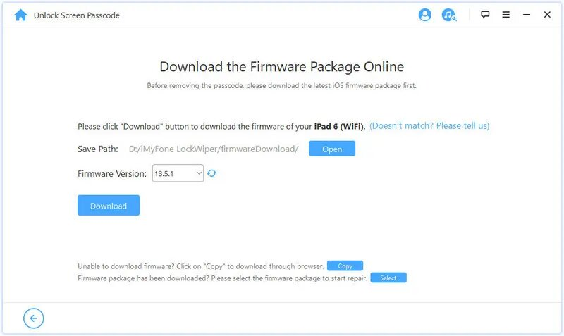 Atl text: Download the Firmware Package Online