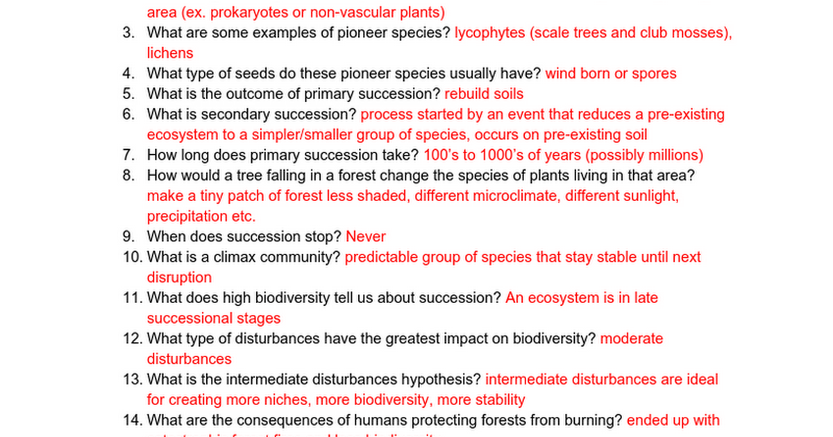 Plant08 - Ecological Succession Worksheet - Answers - Google Docs