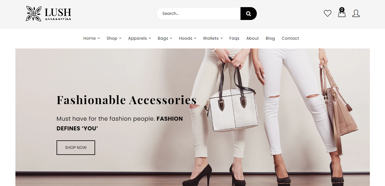 Lush - Handbags store shopify theme