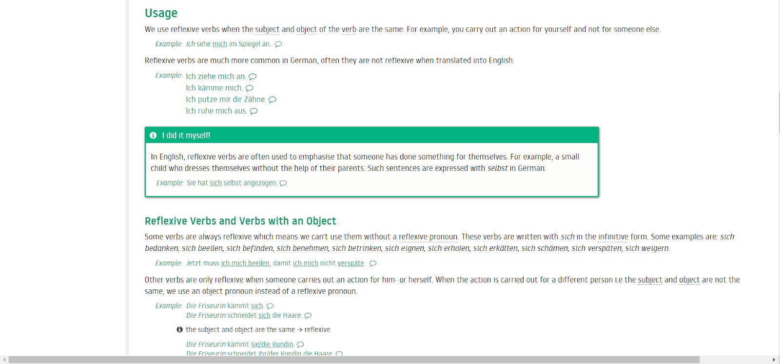 Lingolia website screenhot -  - Learn German with kwiko