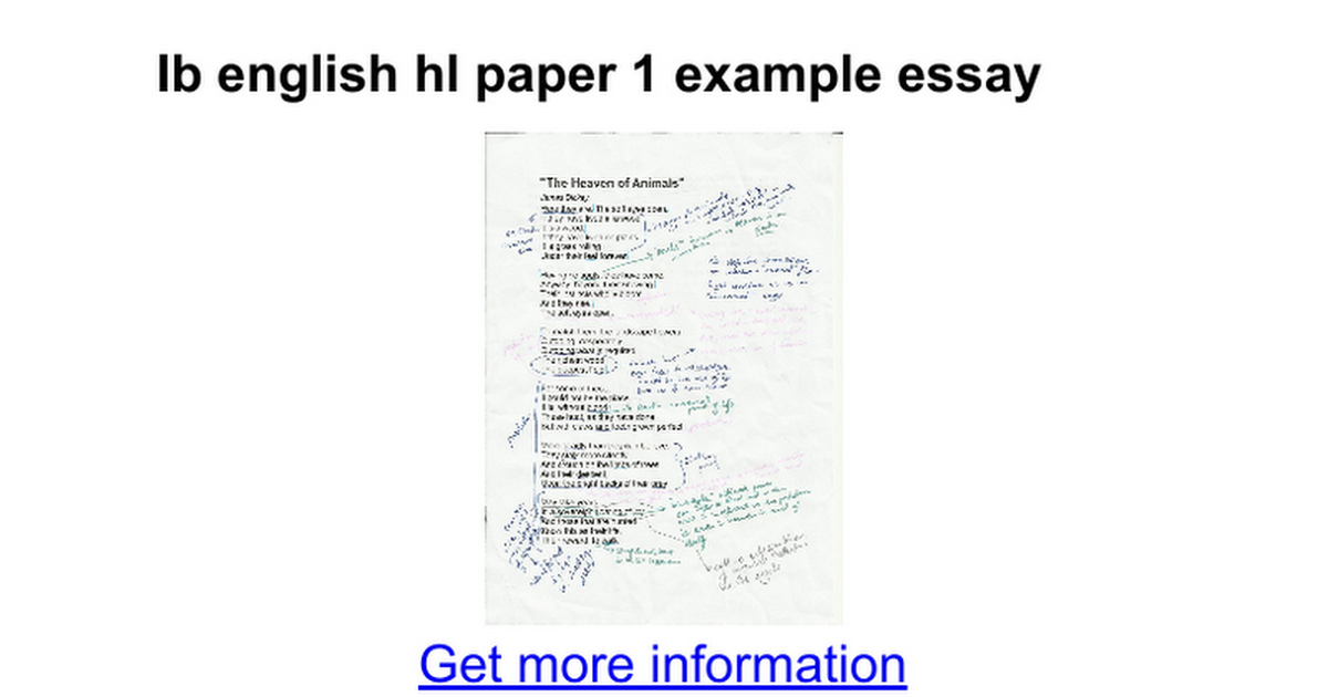 Ib english paper 2 thesis