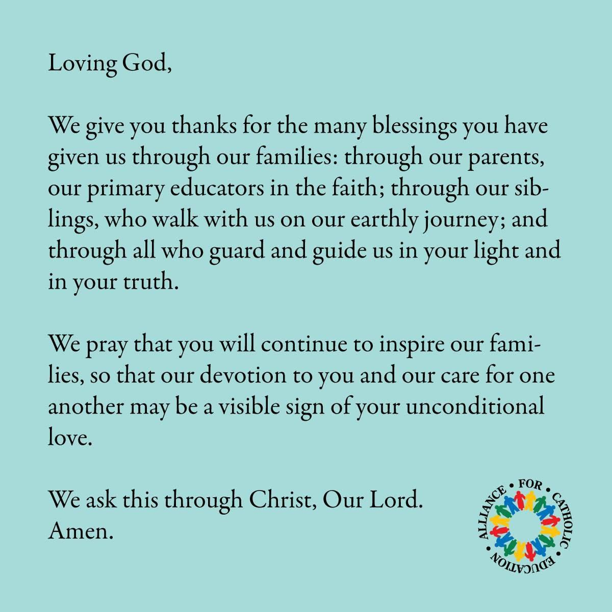 Prayer for Our Families // ACE at Notre Dame