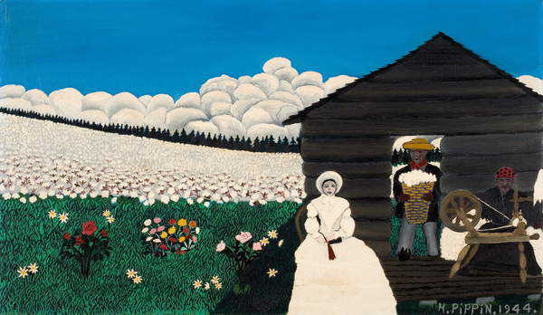 Cabin in the Cotton IV, 1944 (oil on canvas), Pippin, Horace (1888-1946) / American, 40.6x68.9 cms, © Davis Museum at Wellesley College / Gift of Mr. and Mrs. Sam Jaffe, parents of Judith Jaffe Silber (Class of 1957) / Bridgeman Images