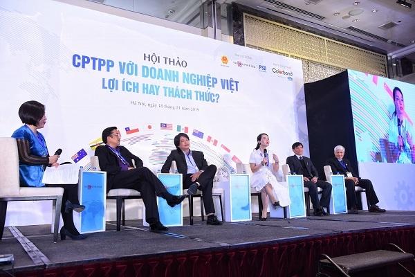 thảo luận Giải pháp để doanh nghiệp Việt Nam tận dụng cơ hội, giảm thiểu thách thức/ rủi ro từ CPTPP