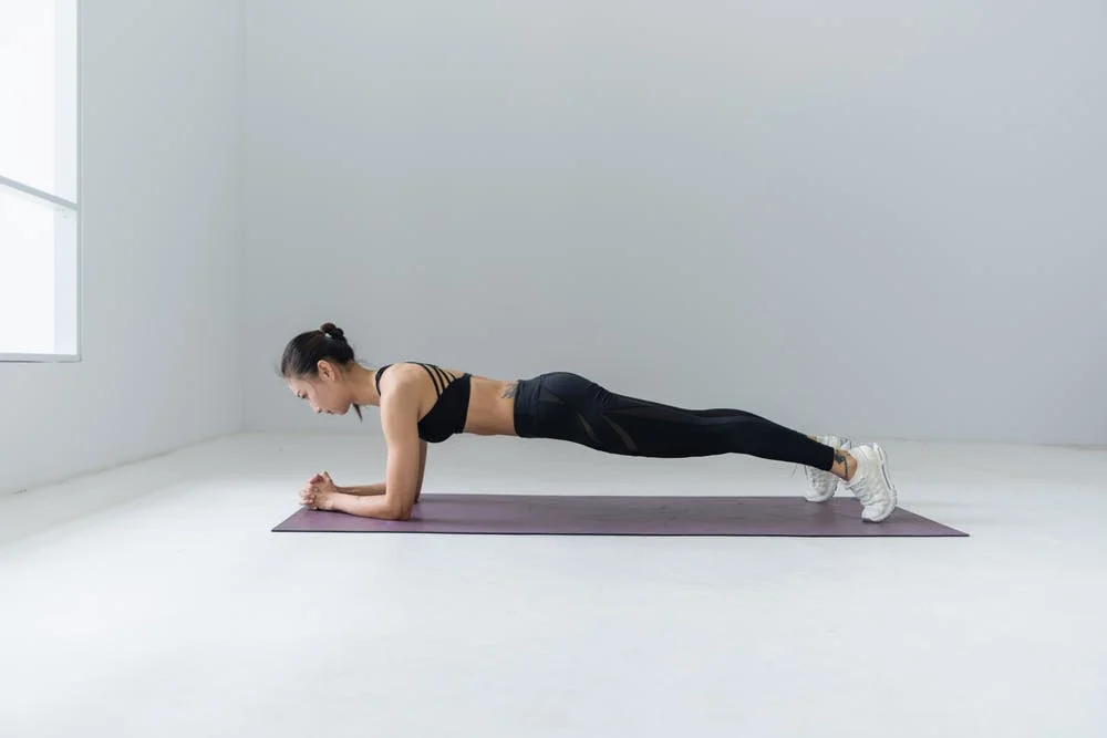 No equipment workout.  Forearm plank.