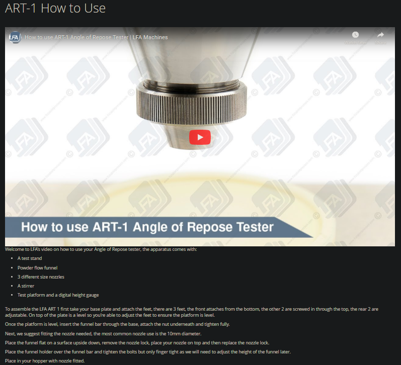 How to use ART-1 video how to guide.