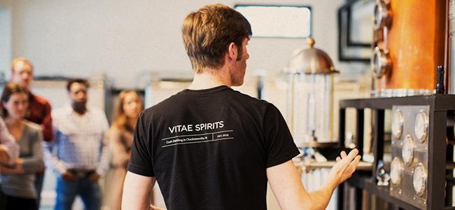 Ian Giving A Tour Of His Virginia Distillery, Vitae Spirits