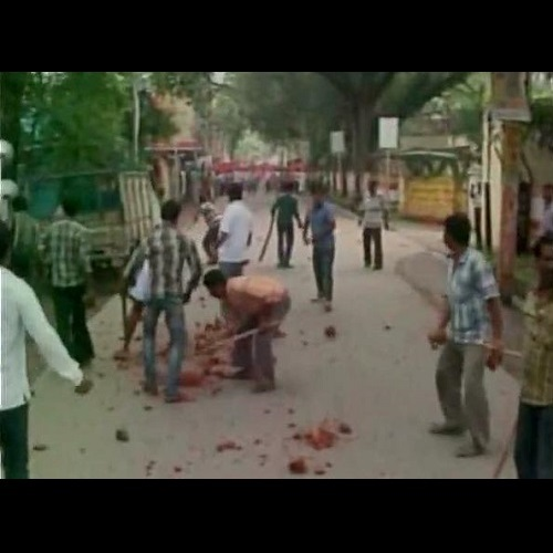 CPM TMC clash in Murshidabad