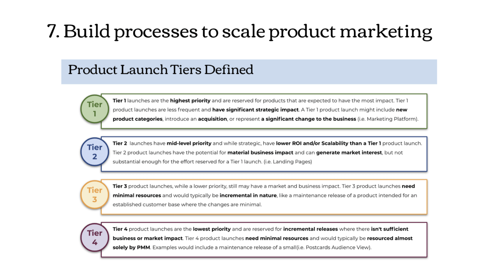 The build processes involved in scaling product marketing