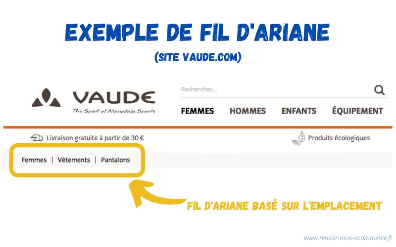 Exemple de fil d'Ariane