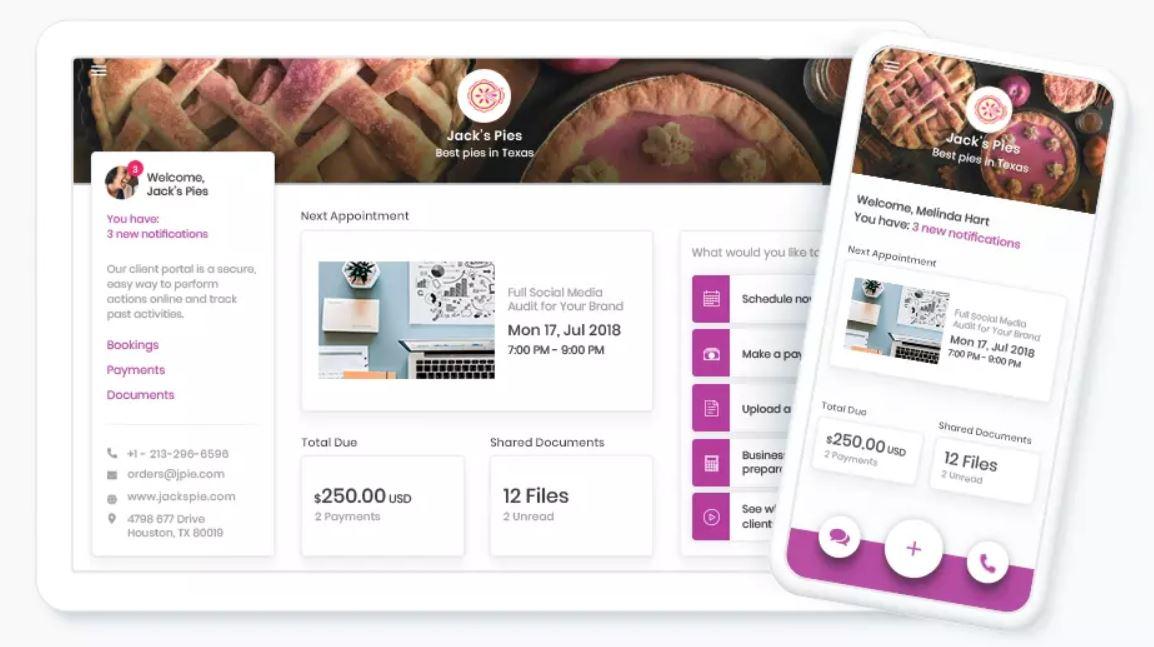 Client Portal by vCita