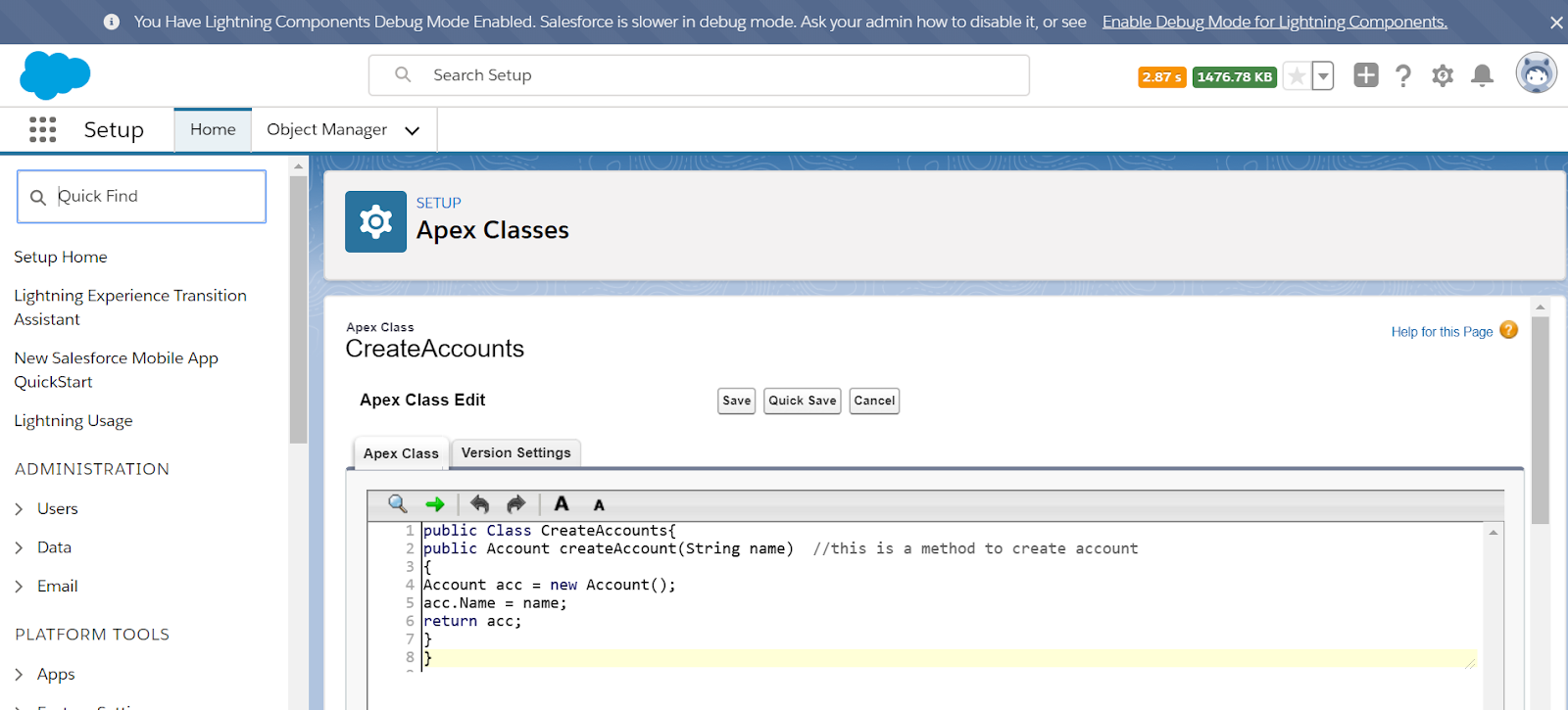 test class in salesforce