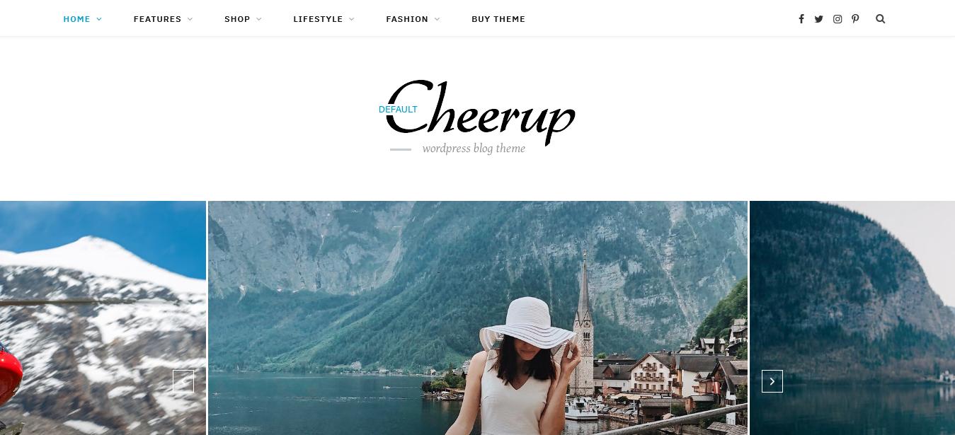 CheerUp WordPress Blog Theme