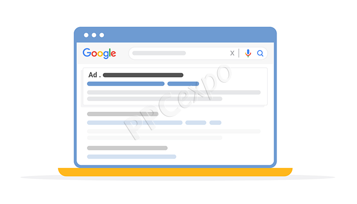 Google Search Ads with PPC expo watermark.