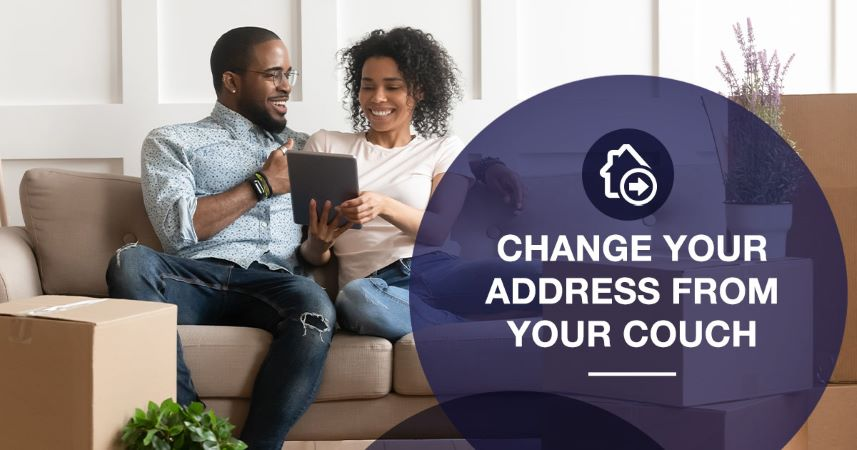 Couple changes mailing address at USPS online