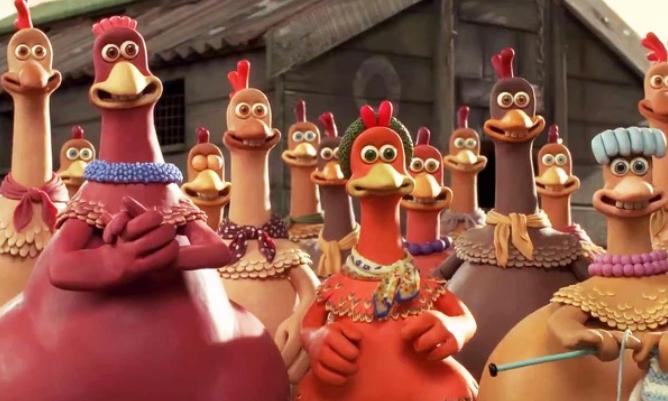 Много пластилиновых куриц