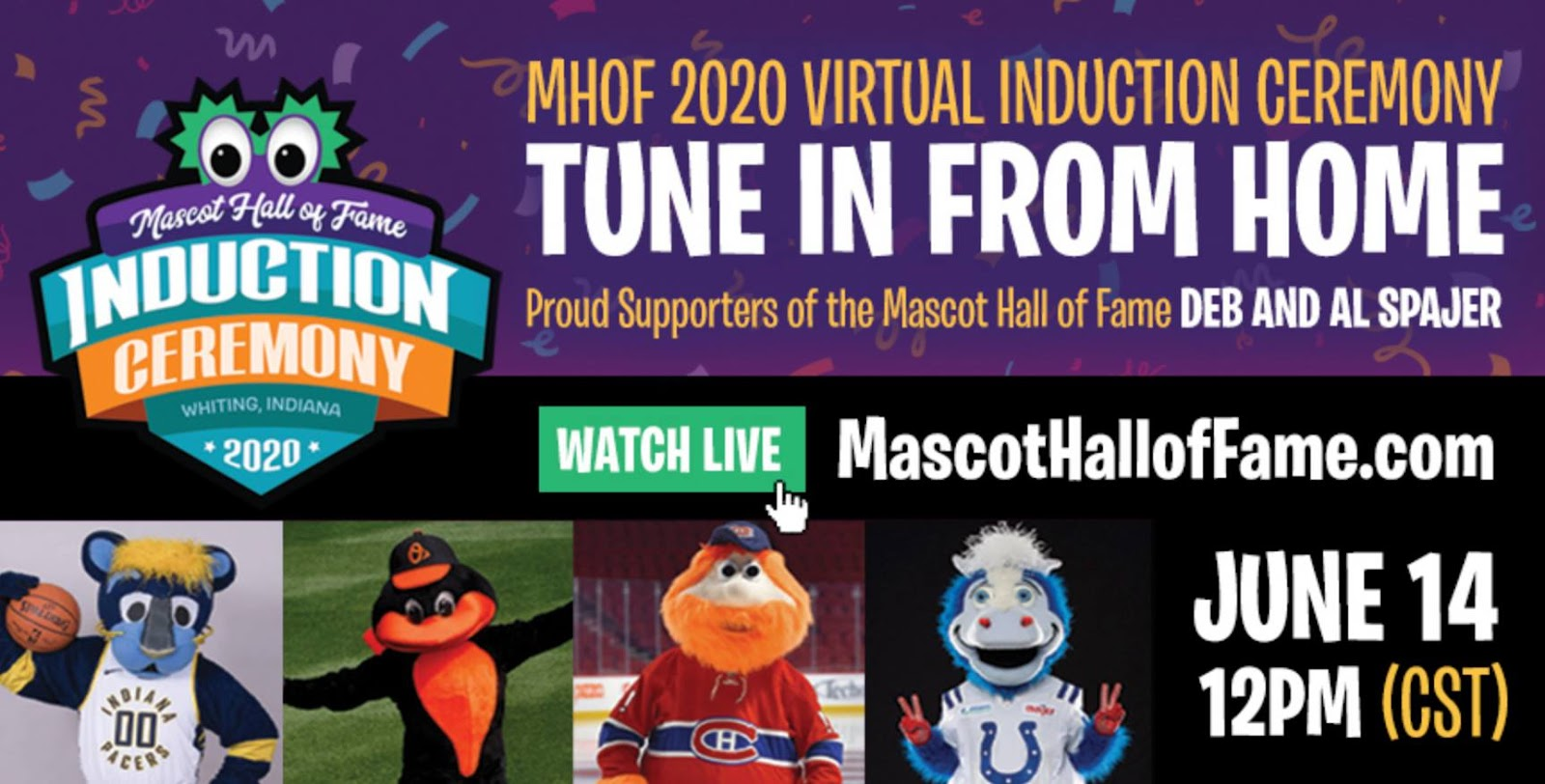 Mascot Hall of Fame induction ceremony 2020