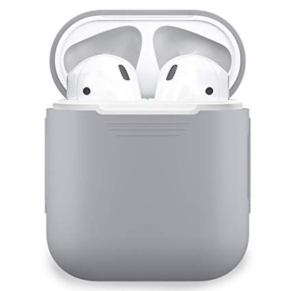 separation shoes 89315 1893b Details about PodSkinz AirPods Case Protective Silicone Cover Skin for  Airpods Charging Gray