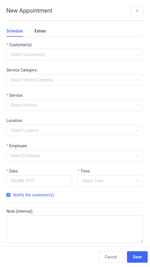 Amelia Booking System WordPress - Schedule New Appointment