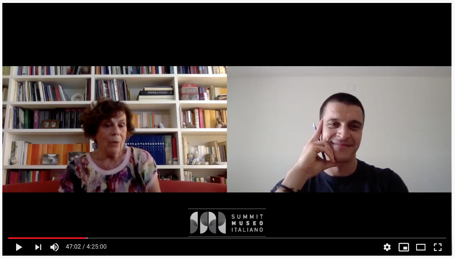 Domenica Primerano discute con Michele Da Rold al Summit del Museo Italiano