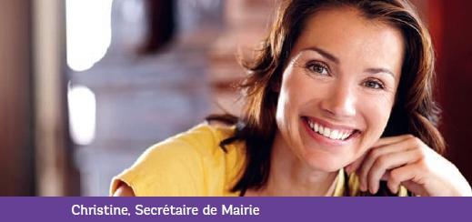 Christine, secrétaire de Mairie