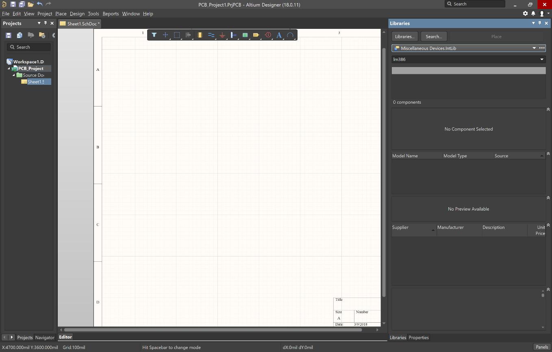Wyszukiwanie konkretnych elementów płytki drukowanej w bibliotekach Altium Designer<sup>®</sup>