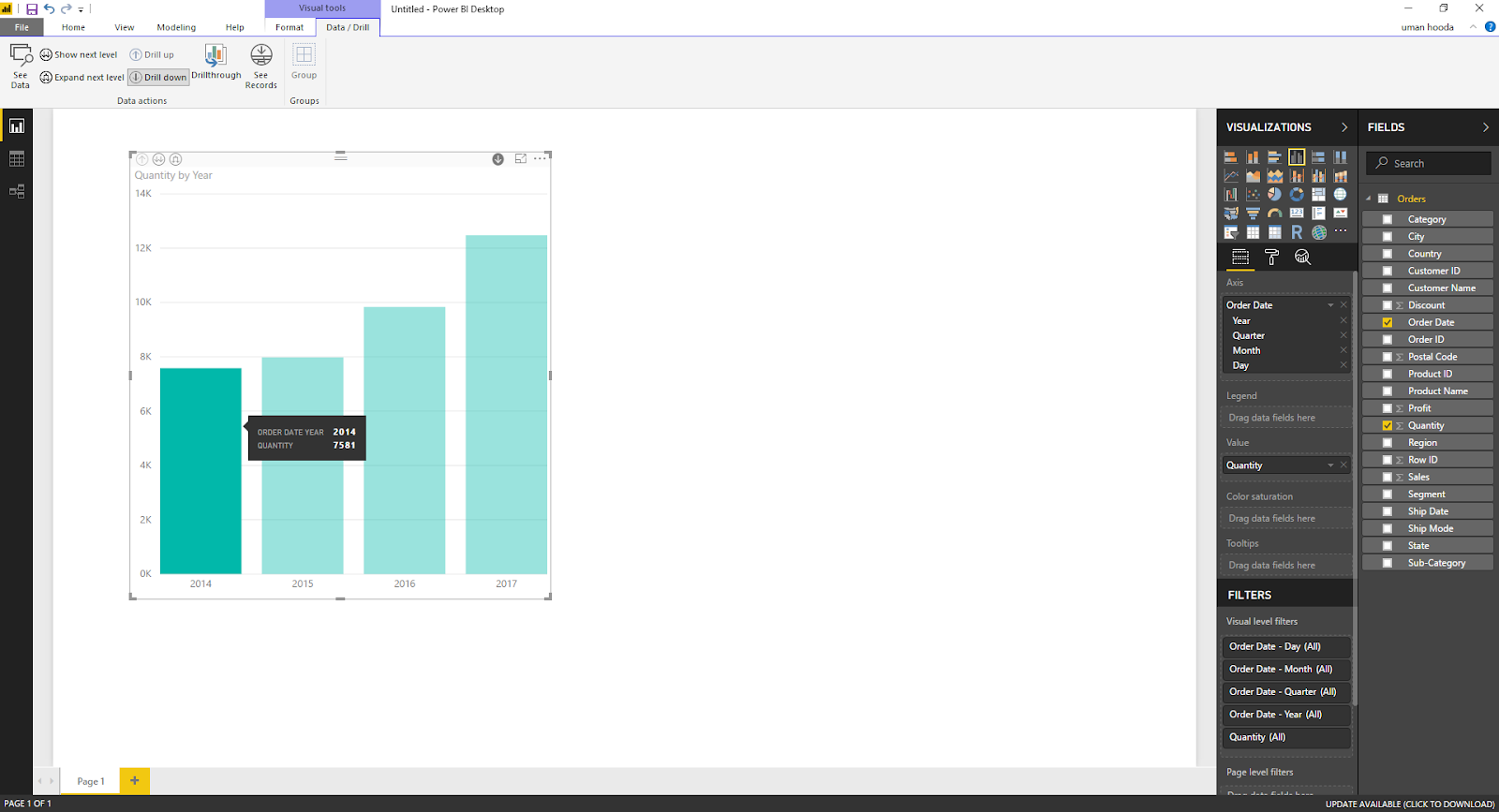Drill In / Out on Your Data For Different Dates In Microsoft Power BI 32