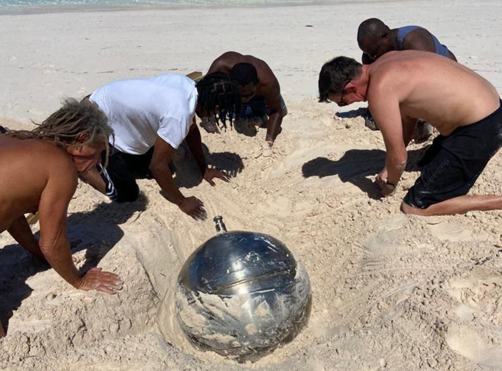 <p>Locals dug the object out of the sand</p>