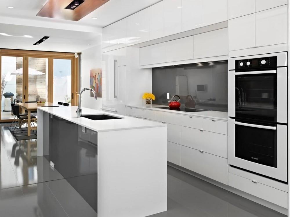 Trắng High Gloss Modern Kitchen Cabinet modern kitchen cabinets kitchen  cabinetkitchen cabinet modern - AliExpress