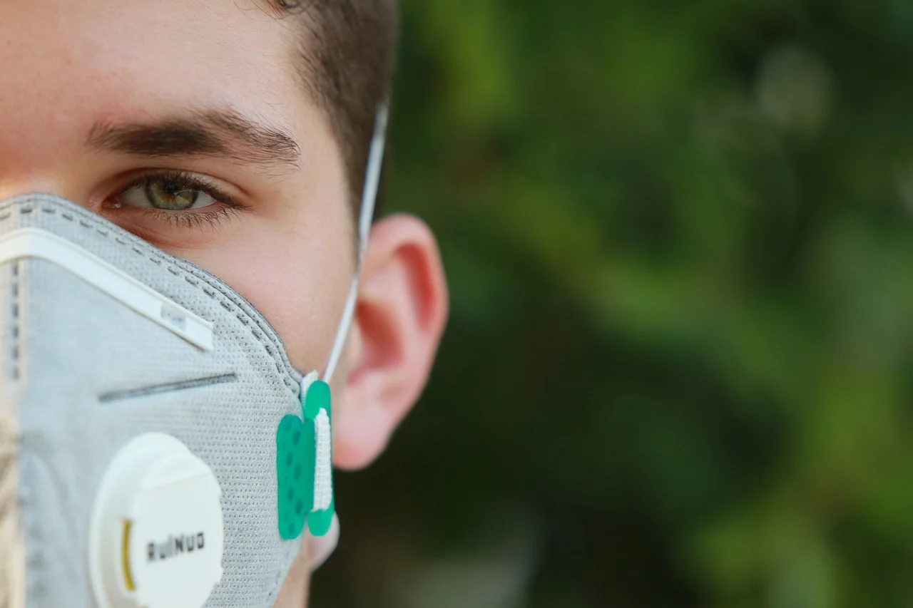 Influencer Wearing Mask During Coronavirus Pandemic