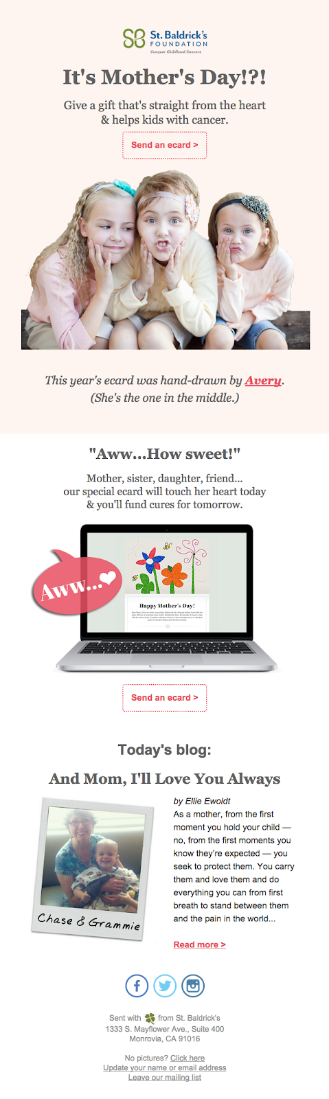 St. Baldrick's Foundations mothers day template
