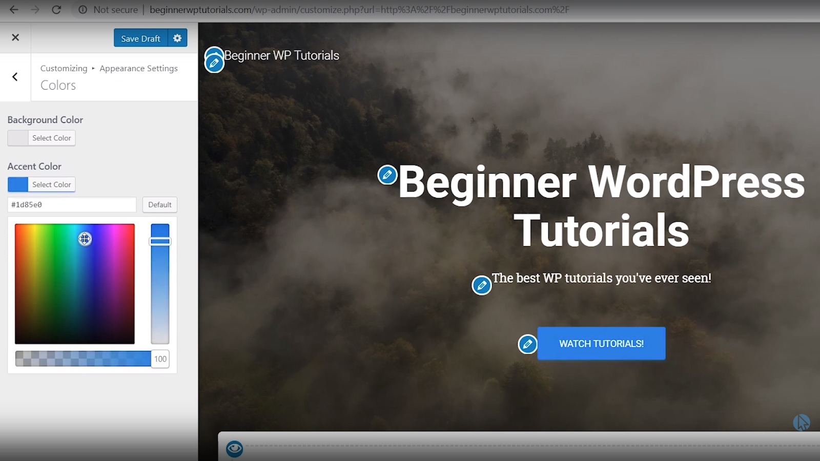change button color wordpress tutorial for beginners
