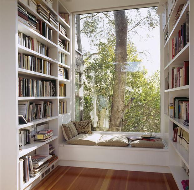 Lựa chọn nơi yên tĩnh để thiết kế phòng đọc sách hiện đại