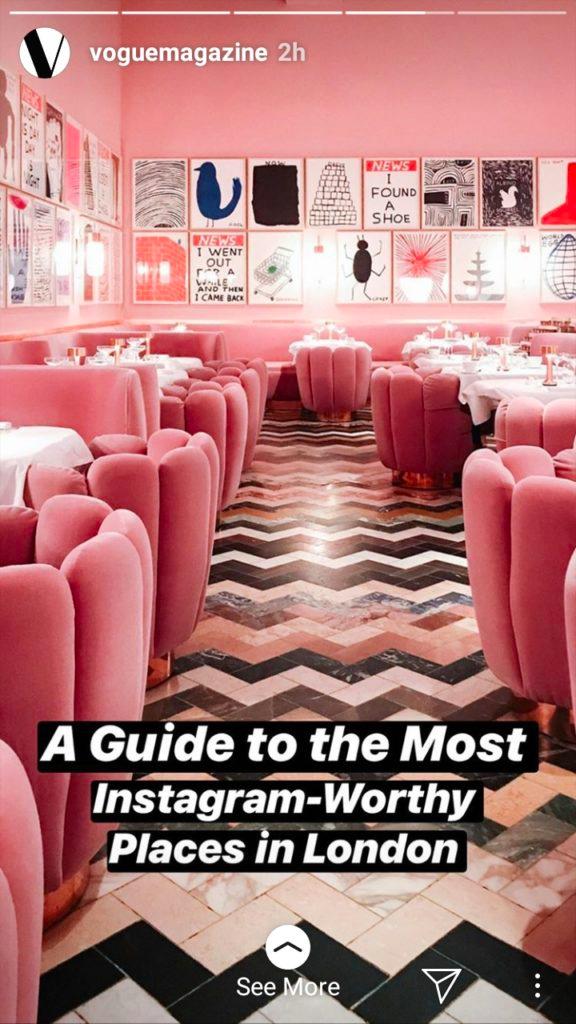 Vogue Magazine Instagram Stories