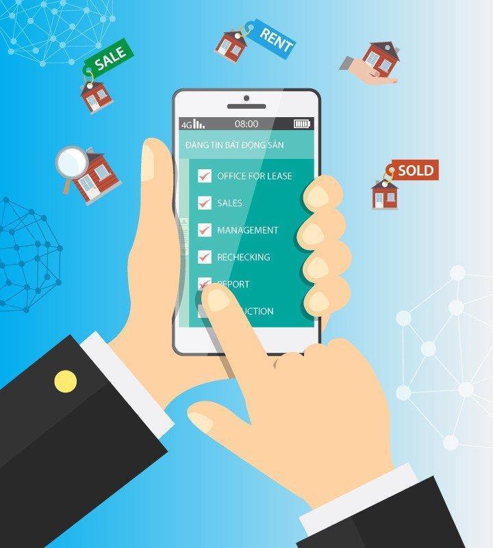 App mobile giao dịch bất động sản giúp doanh nghiệp tiếp cận khách hàng nhanh chóng