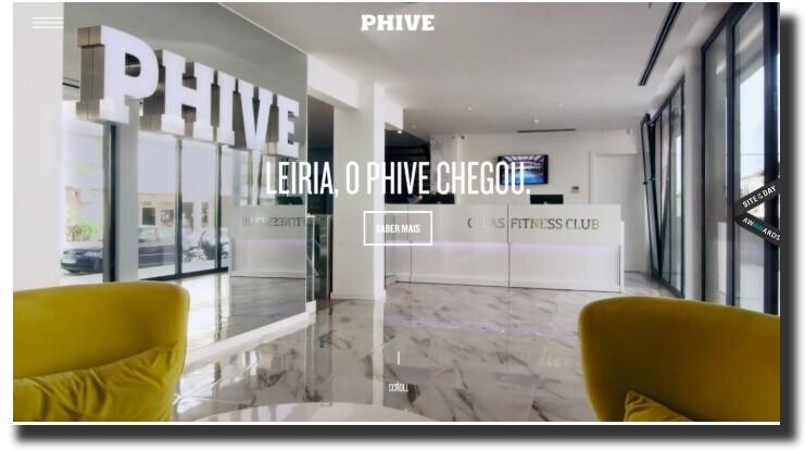 Phive website design