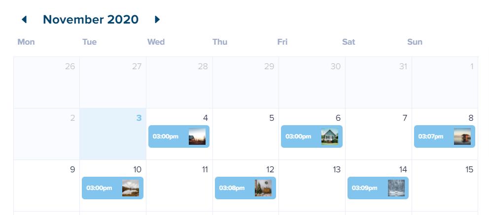 instagram content calendar example